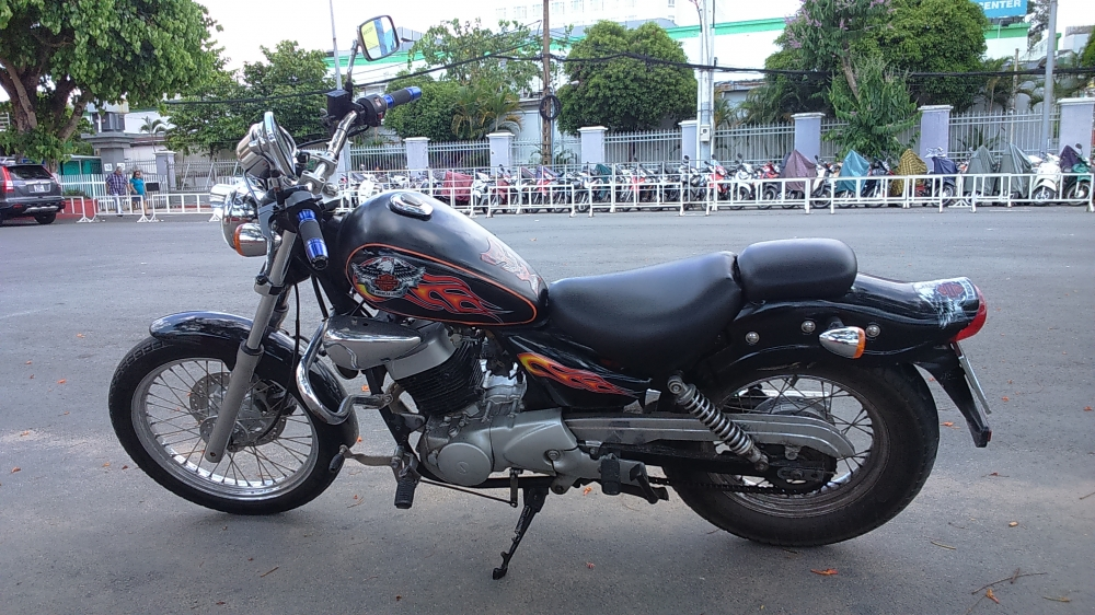 ban xe moto husky 150cc do dang rebell co dien