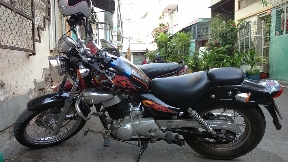 ban xe moto husky 150cc do dang rebell co dien - 3