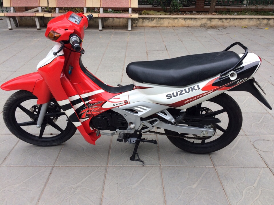 Can ban Suzuki Xipo Satria 2000 mau do trang 120cc 6 so - 4