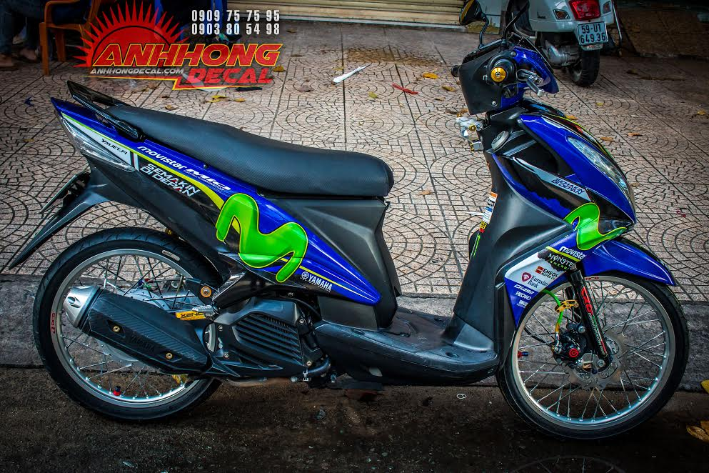 Yamaha Mio do phien ban Movistar an tuong - 6
