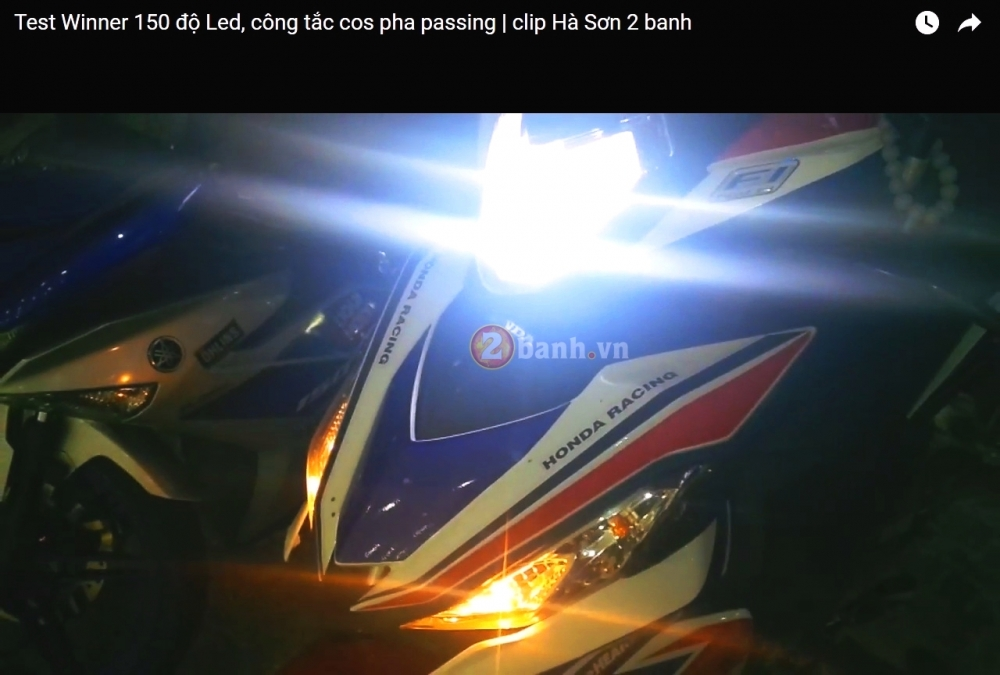 Clip Test Winner 150 do led Cree XML2 di dien binh