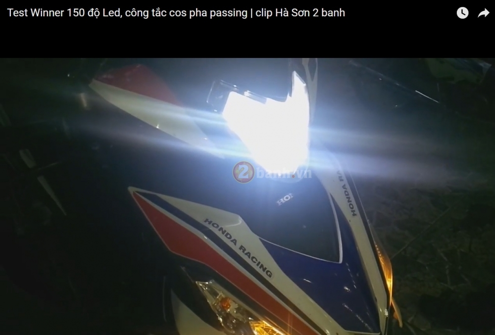Clip Test Winner 150 do led Cree XML2 di dien binh - 3
