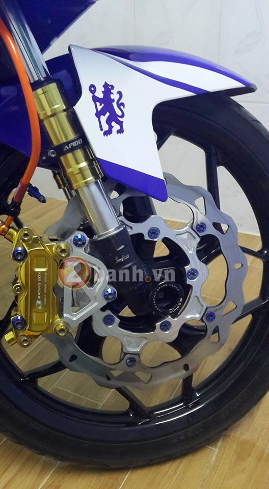 Exciter 150 do do choi Brembo cua fan Chelsea - 5