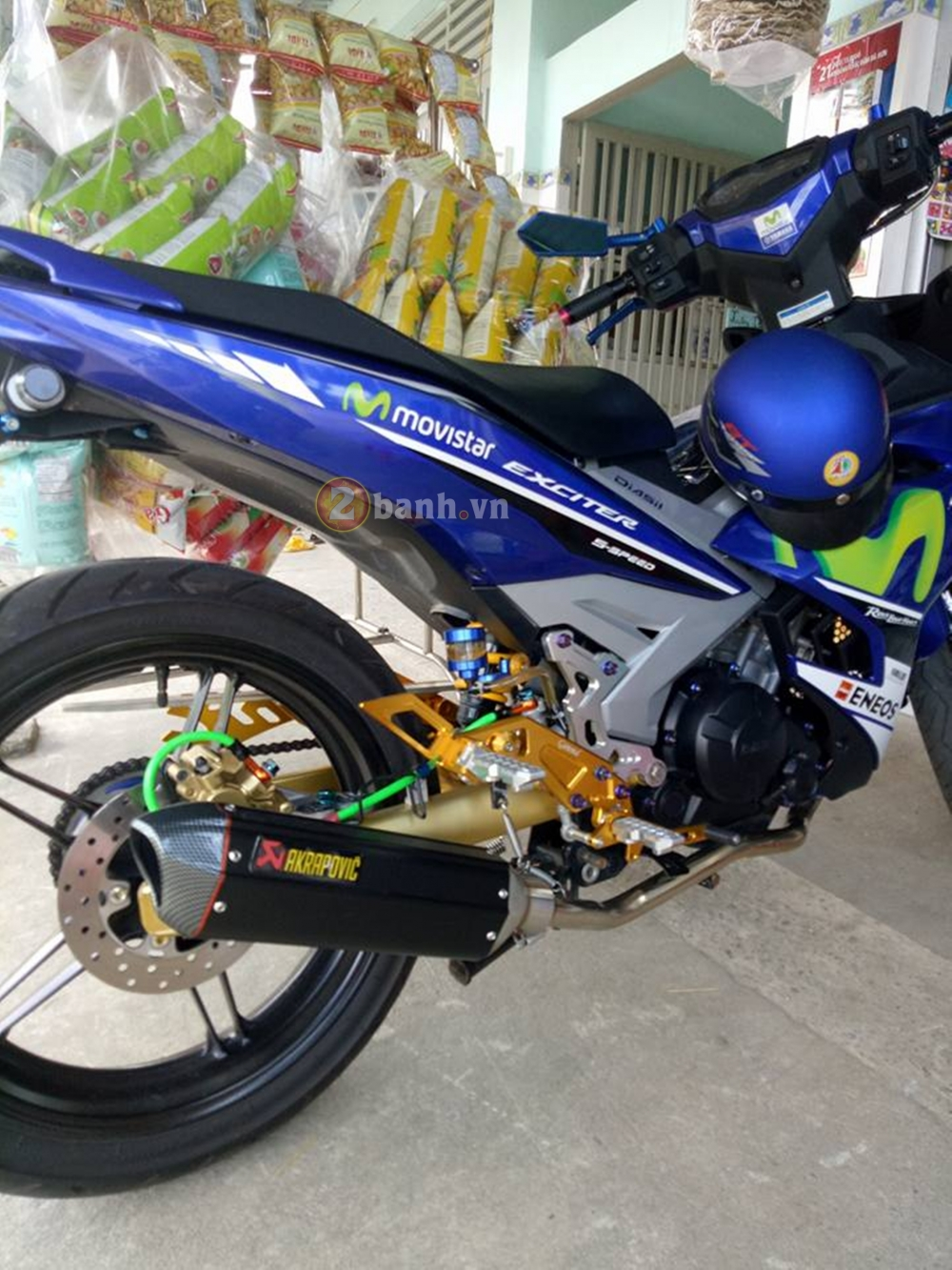 Exciter 150 mac ao Movistar vac sung Akrapovic - 3
