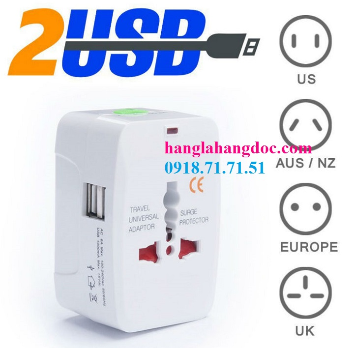O cam da nang du lich co cong usb travel adapter gia re - 8
