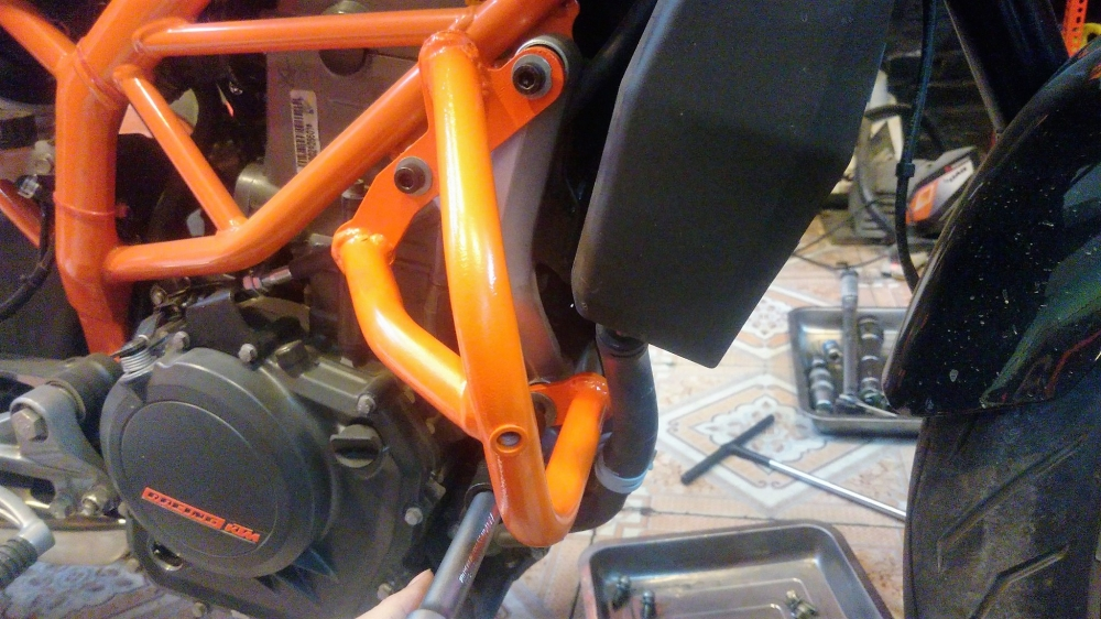 KTM Ha NoiChong do khung Cobra KTM Duke 250390 mau cam - 5