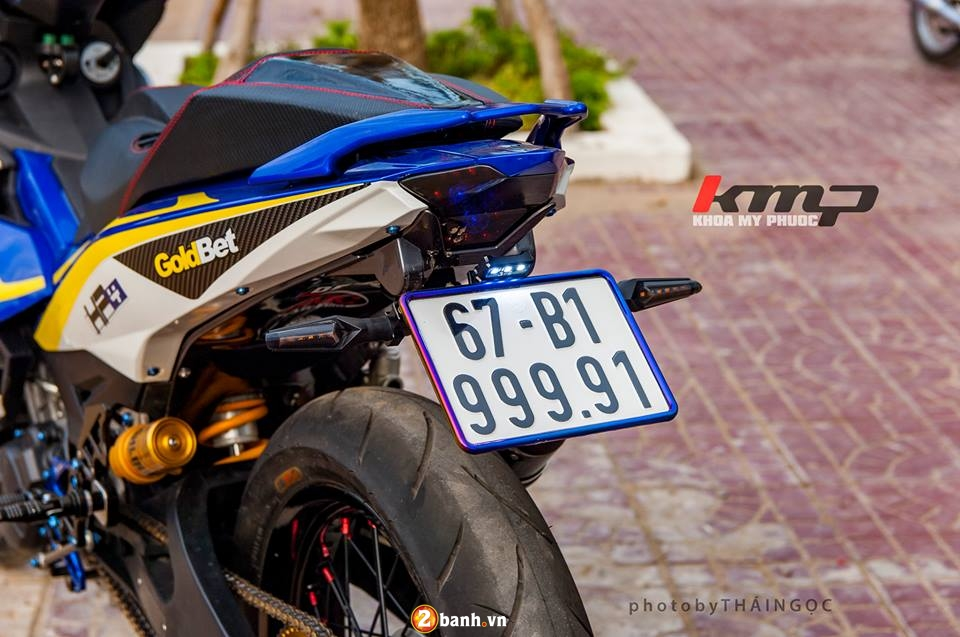Can canh Exciter 150 ban do chat choi cua Biker An Giang - 8