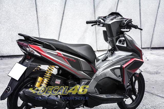 Tem xe Airblade 2016 Simple do Decal 46 thuc hien - 6