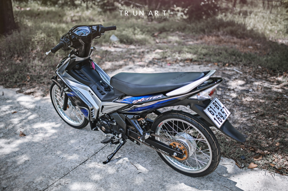 Exciter 135cc thuot tha truoc ong kinh - 5