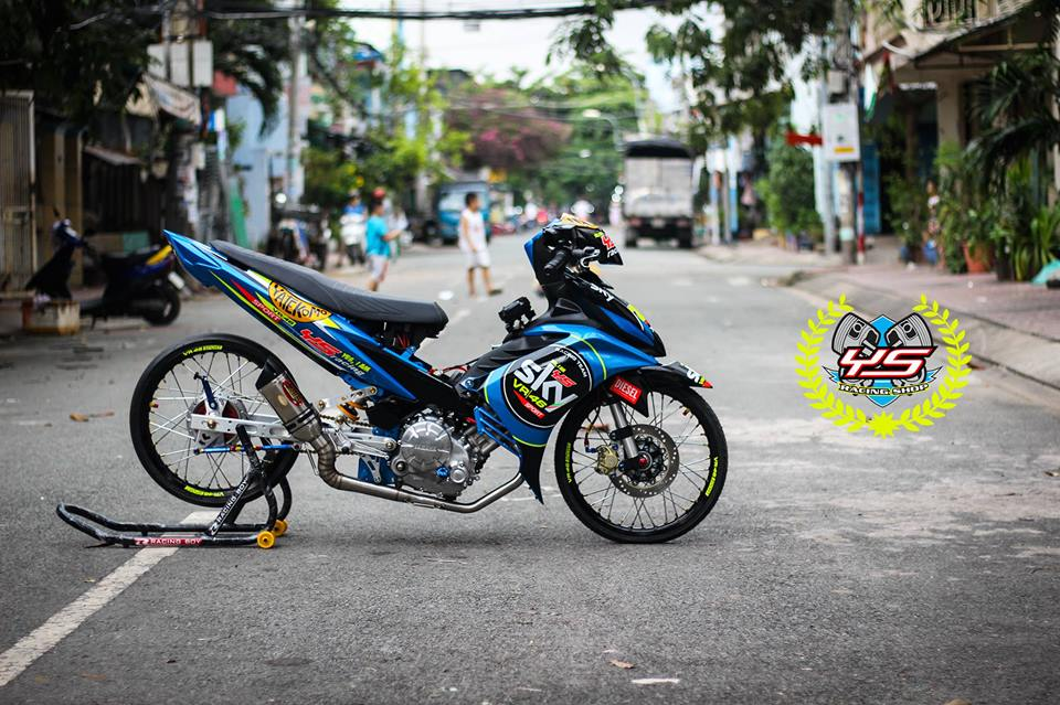 Exciter 135 do phong cach Drag day manh me uy luc - 13