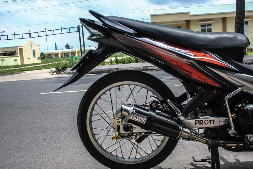 Exciter 135 do no banh xac voi hoi tho day uy luc - 5