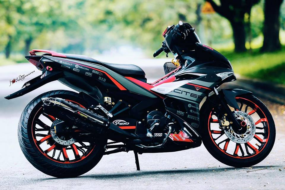 Exciter 150 do dung hinh voi dan chan day co bap - 3