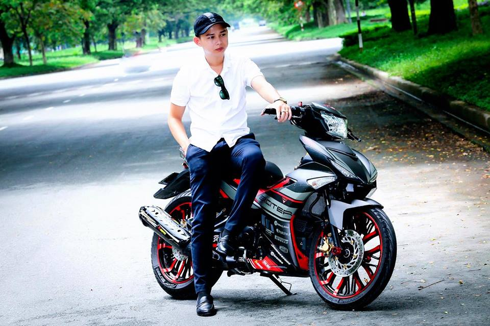 Exciter 150 do dung hinh voi dan chan day co bap - 9