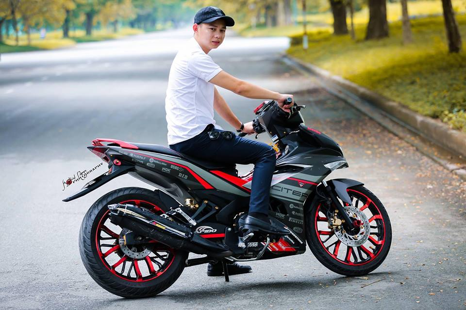 Exciter 150 do dung hinh voi dan chan day co bap - 10