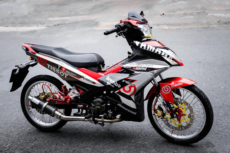 Exciter 150 do kieng long lay voi nong sung day uy luc - 5