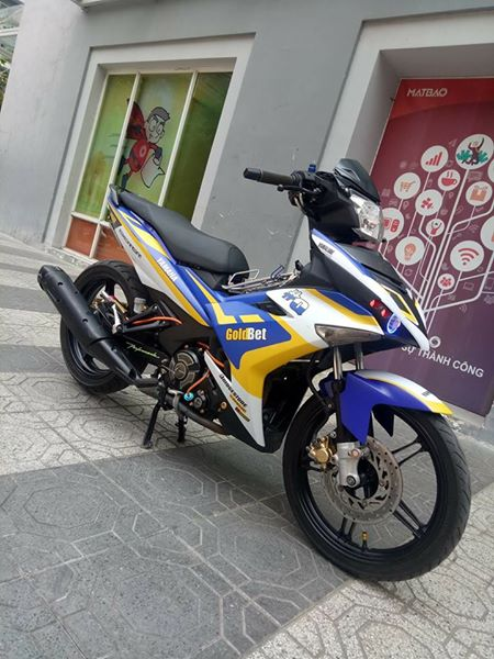Exciter 150 do nhe nhang voi phong cach tem dau day an tuong - 5