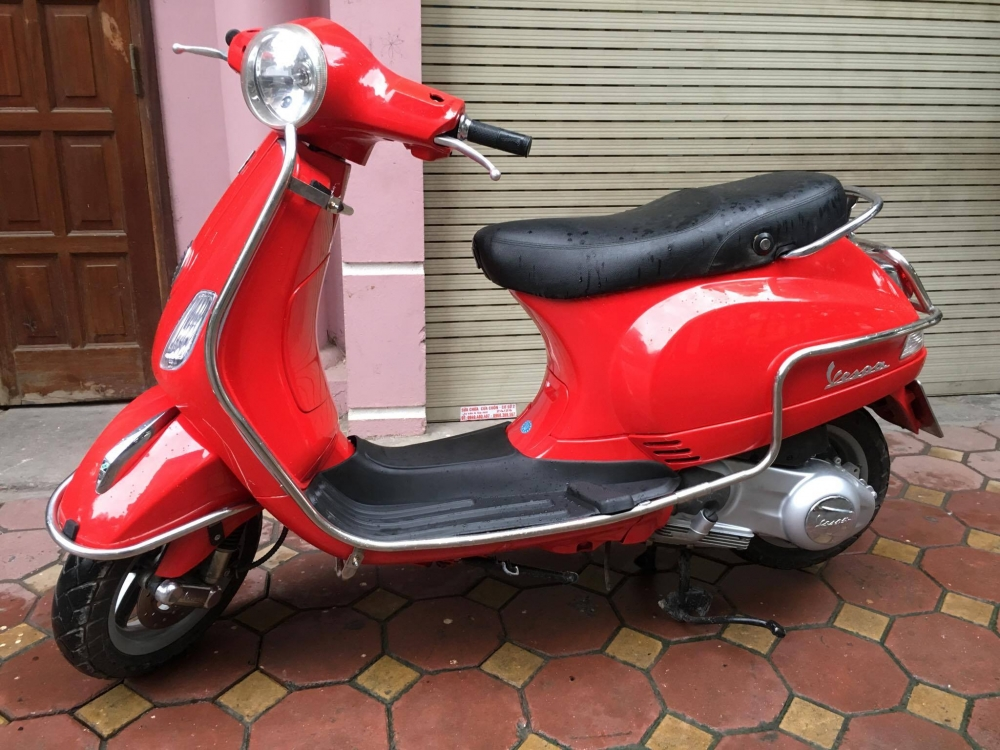 Vespa LX 125ie doi moi 2012 gia 31tr bs 29B 22887 mau Do rat moi giay to cchu - 3