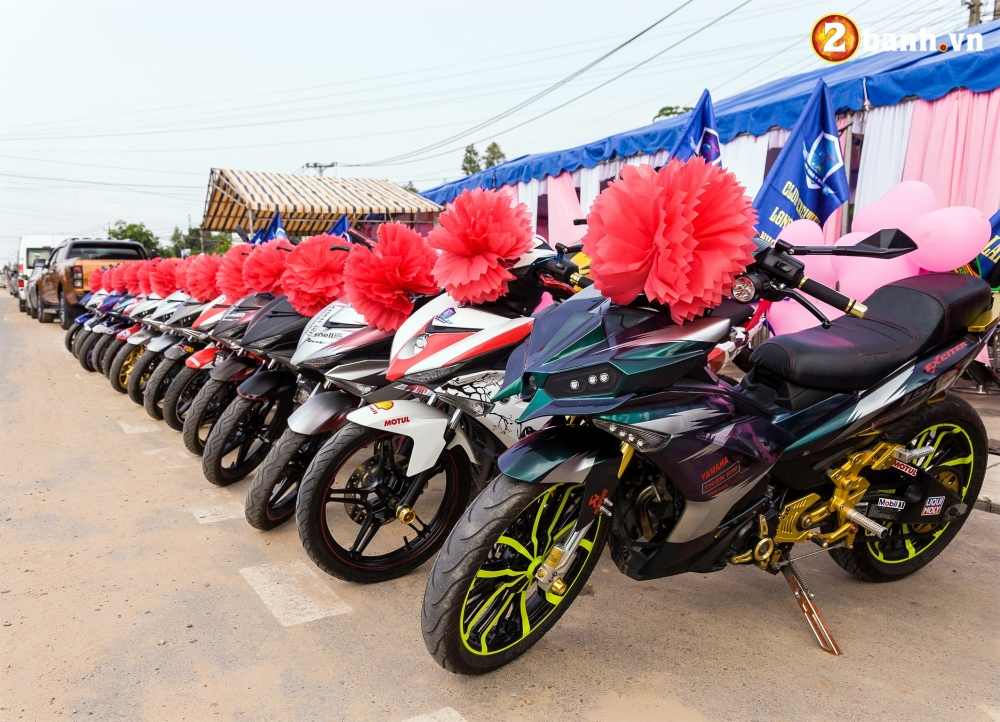 Club Exciter ACE Long Thanh Nhon Trach voi doi hinh 40 chiec Exciter cuop dau day hoanh trang - 15