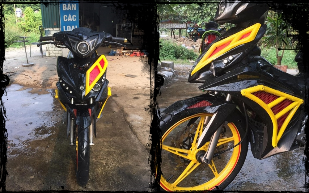 Exciter 135 do an tuong voi phong cach quai vat Ducati