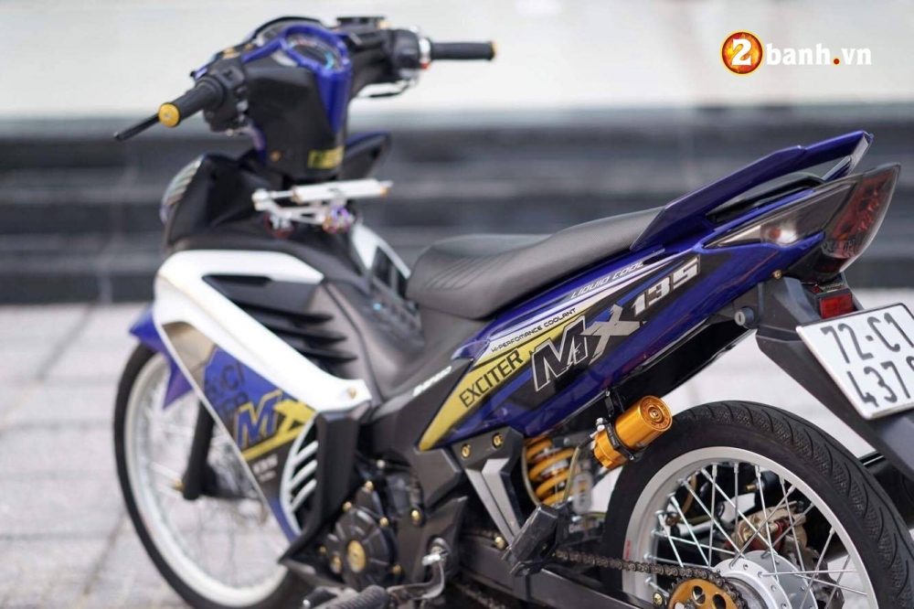 Exciter 135 do chat den ngat voi bo canh MX dam chat the thao - 11