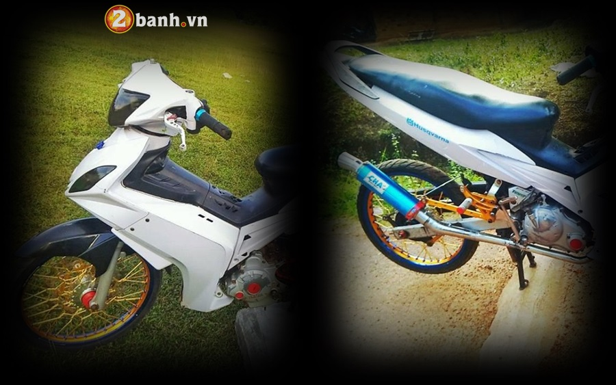 Exciter 135 do phong cach cop day manh me cua Biker Malaysia