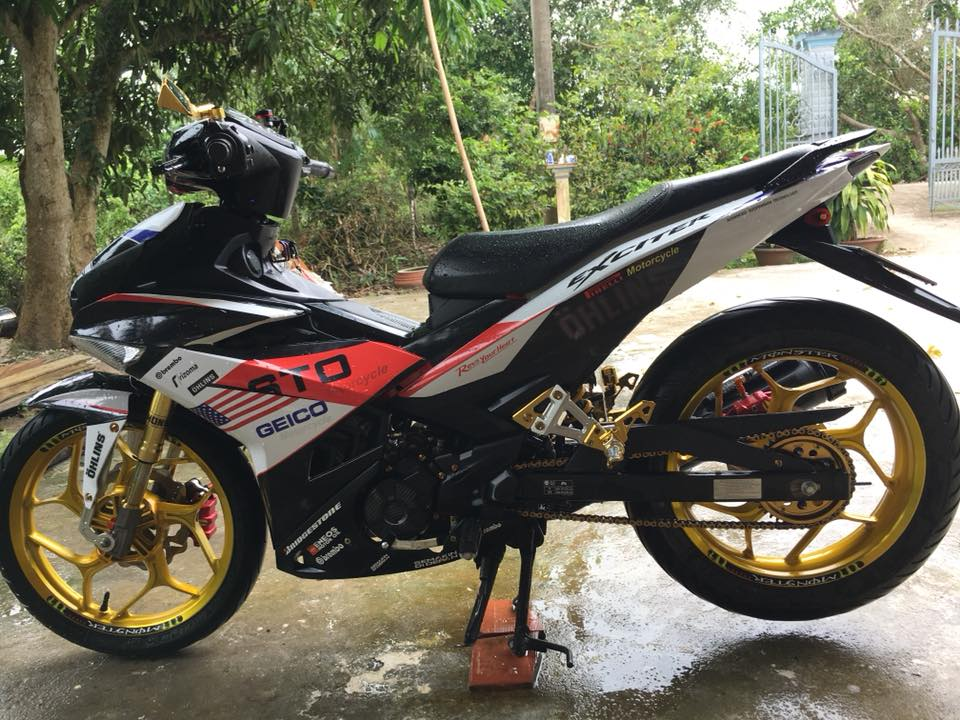 Exciter 150 do an tuong voi dan chan Upside down - 3