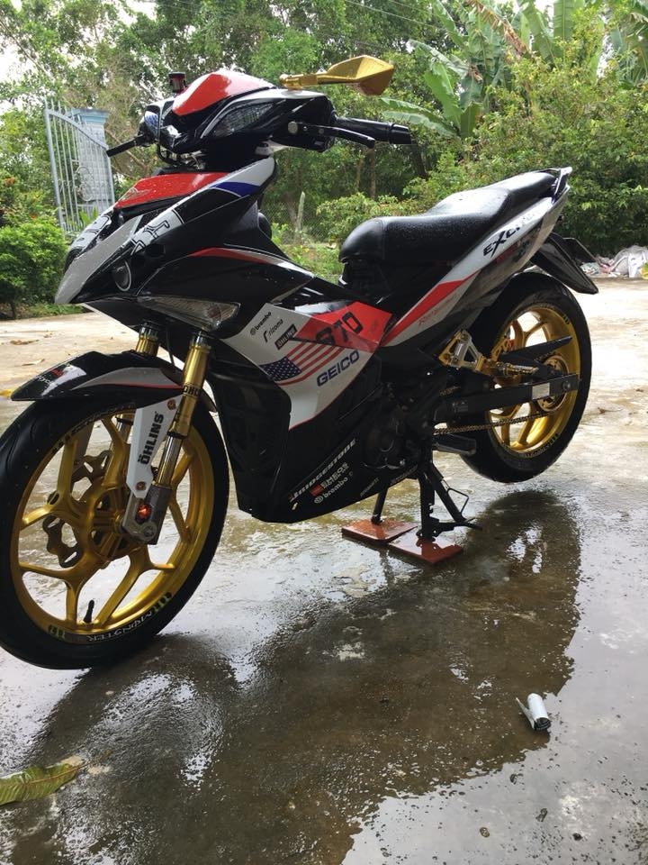 Exciter 150 do an tuong voi dan chan Upside down - 5