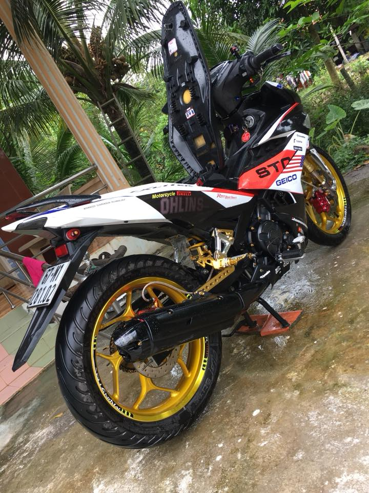 Exciter 150 do an tuong voi dan chan Upside down - 6
