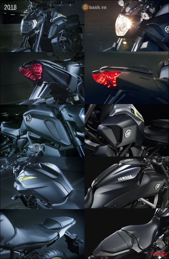 So sanh ve su thay doi giua thiet ke Yamaha MT07 2018 vs MT07 2017 - 4