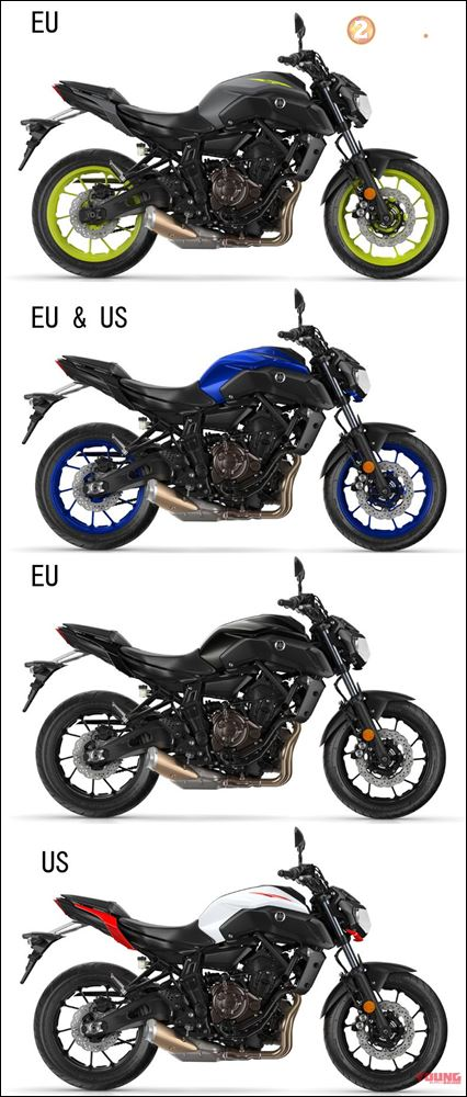 So sanh ve su thay doi giua thiet ke Yamaha MT07 2018 vs MT07 2017 - 6