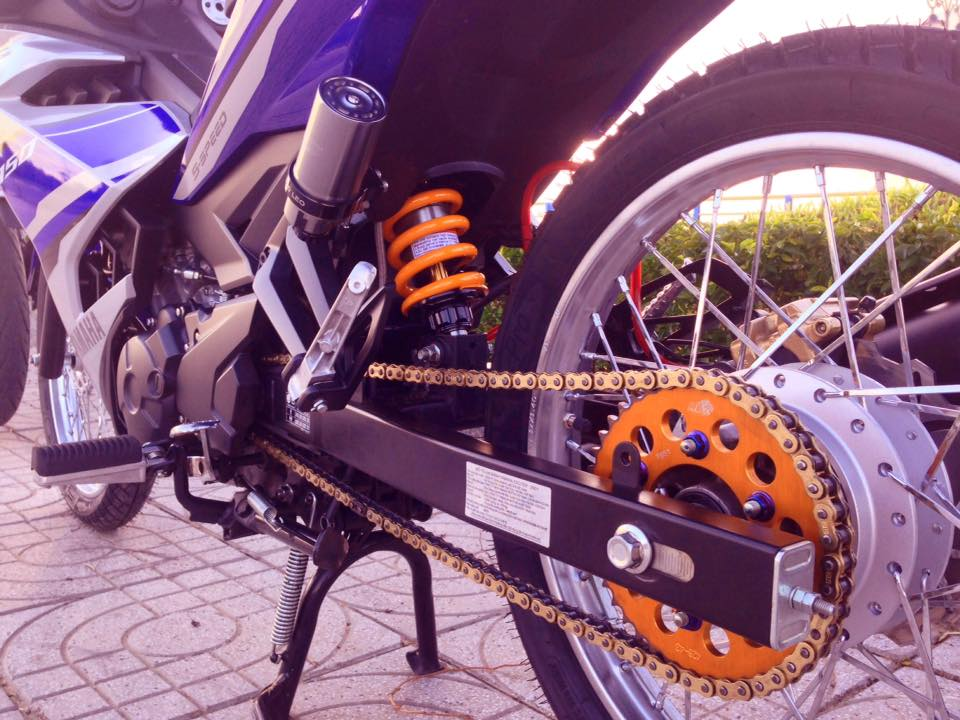 Exciter 150 do gon gang voi dan chan luoi lao than toc - 6