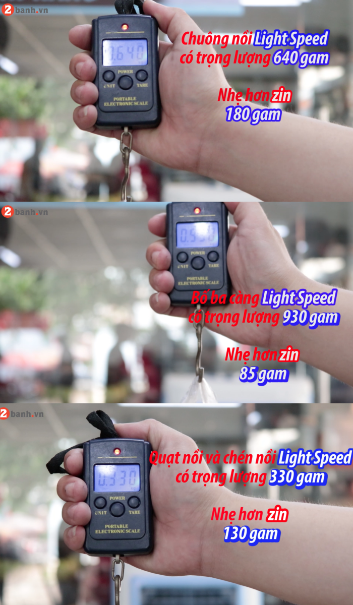 Review noi do Light Speed Racing danh cho Click Thai Vario va cac dong xe khac - 10