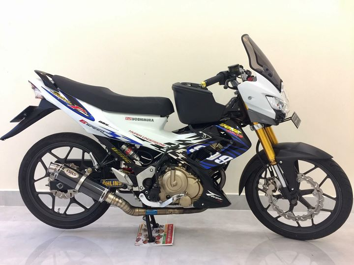 Satria f150 do sieu khung voi loat do choi chat - 3