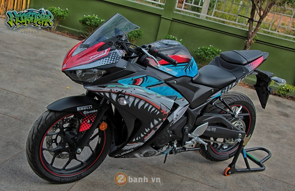 Yamaha R3 thoat xac day an tuong voi dien mao moi mang ten Angry Shark - 3