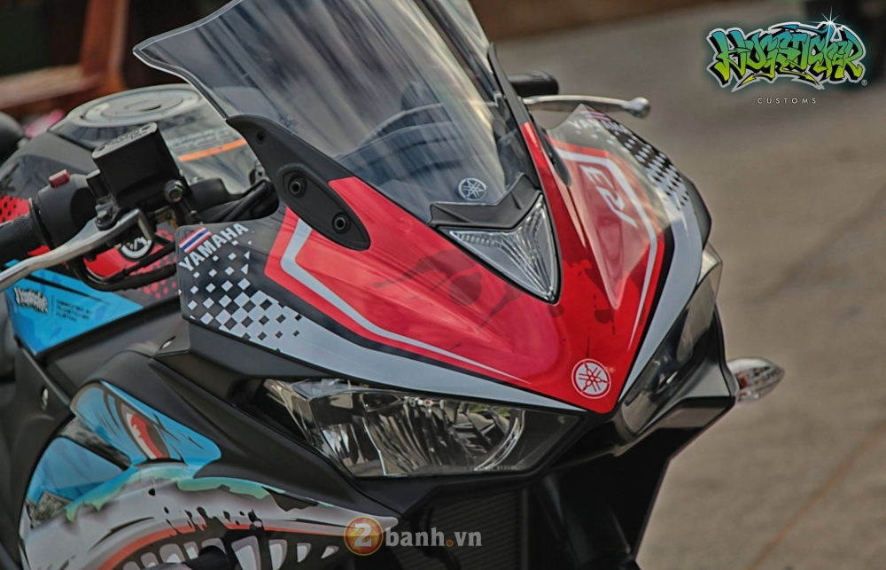 Yamaha R3 thoat xac day an tuong voi dien mao moi mang ten Angry Shark - 6