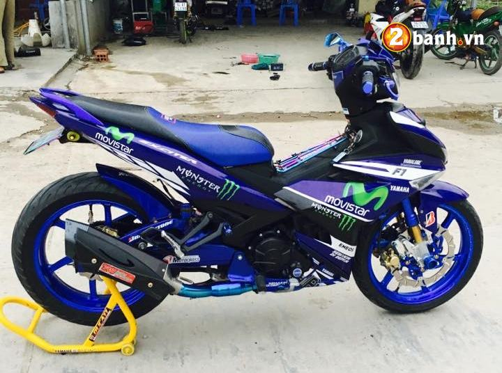 Exciter 150 do dam chat the thao trong phien ban Movistar - 3