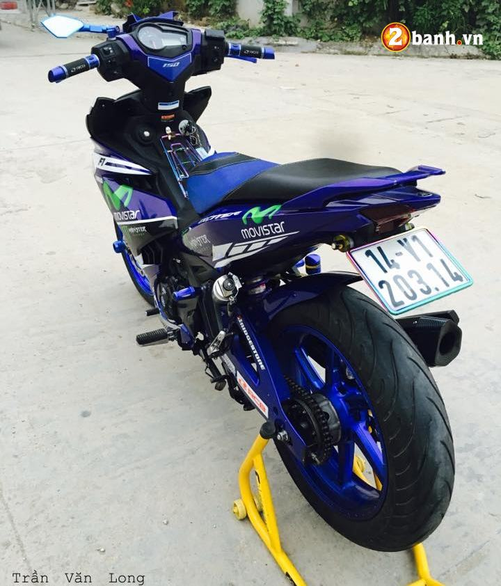 Exciter 150 do dam chat the thao trong phien ban Movistar - 7