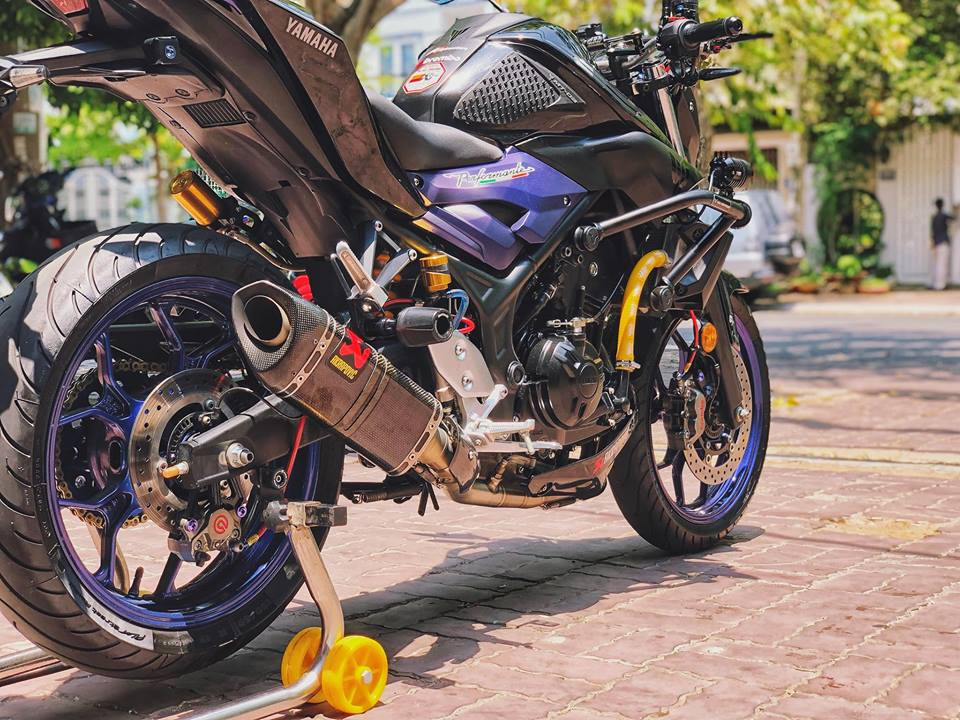Ngam nhin Yamaha MT03 do full option tren dat Viet - 8