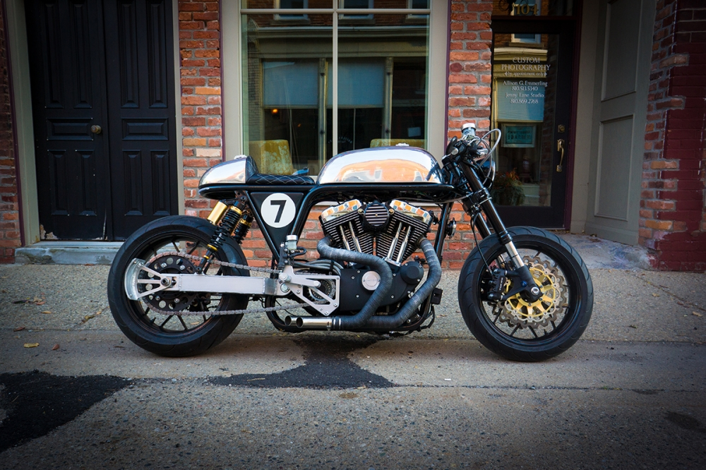 HARLEY SPORTSTER do an tuong voi phong cach CAFE RACER - 7