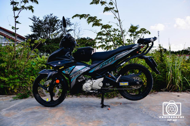 Exciter 150 do up phong cach Y15zr ket hop cung mam 3 dao dang hot - 9