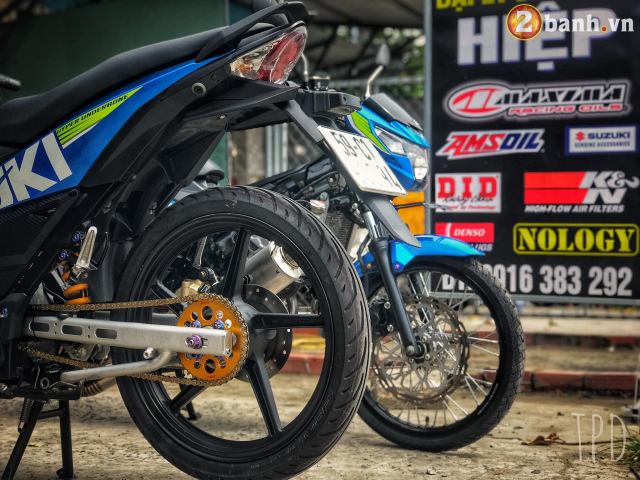 Satria F150 do option vu khi hang nang cua Biker Viet - 8