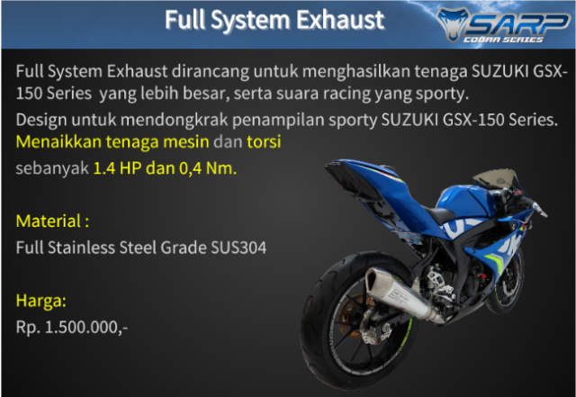 Suzuki GSX R150 voi option do choi chinh hang SARP tai thi truong Indo - 2