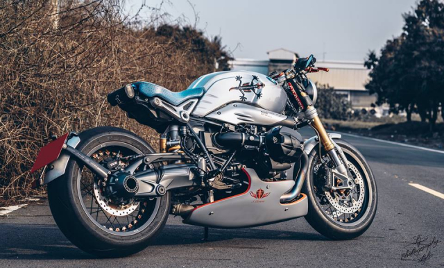 BMW RnineT do chat choi mang dam thiet ke Cafe Racer tan thoi - 3