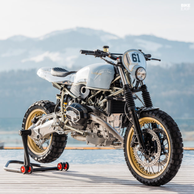 BMW RnineT hoi sinh tu y tuong mo to truot tuyet Rickman Triumph Metisse - 3