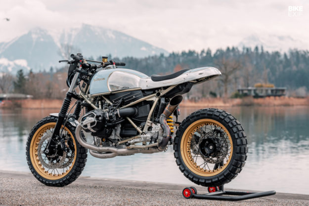 BMW RnineT hoi sinh tu y tuong mo to truot tuyet Rickman Triumph Metisse - 8