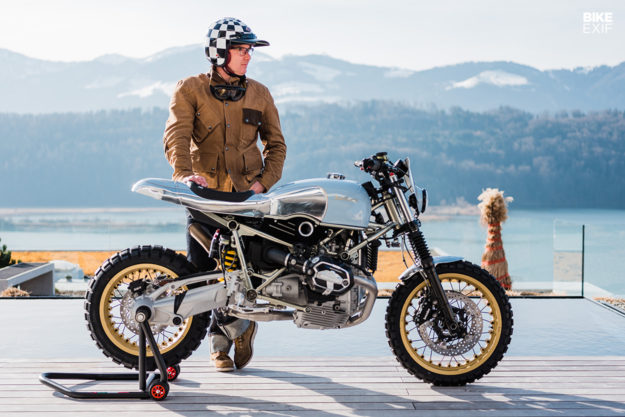 BMW RnineT hoi sinh tu y tuong mo to truot tuyet Rickman Triumph Metisse - 14