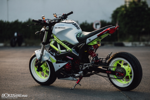 Nhoc lun GPX Demon X 125 do gay te voi doi chan keo dai nhu nguoi mau - 12