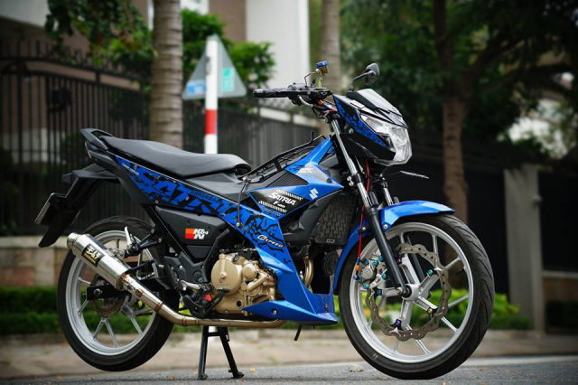 Satria 150 don full option voi hang loat do choi chat luong