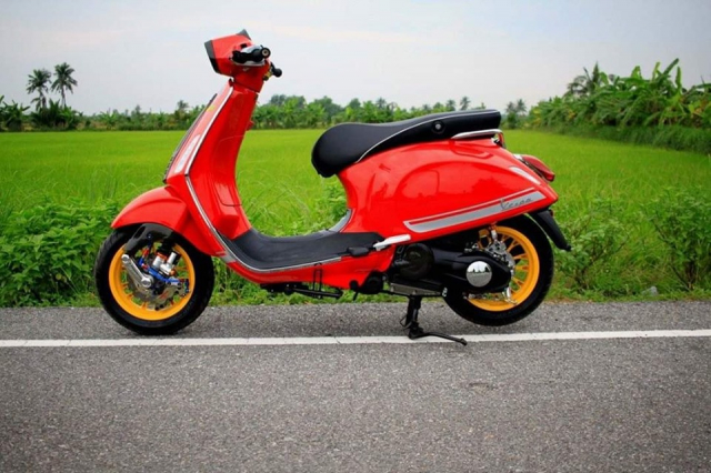 Ngam nhin dong Vespa Sprint do full option cuc lich lam - 12