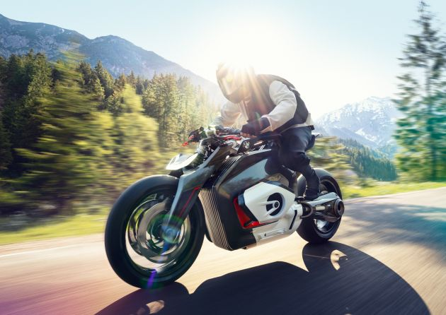 BMW Motorrad gay chan dong voi mau xe dien Vision DC Roadster - 3